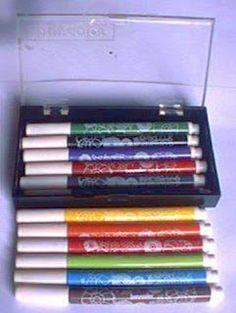 Playcolor. A canetinha branca apagava as outras cores!
