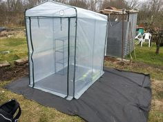 Greenhouse up, stress levels up thanks to greenhouse and energy levels used up. Hate flat packs #allotment #greenhouse
