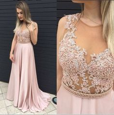 Sexy Prom Dress, Long Prom Dress,See Though Evening Dress,Formal Evening Gown by DRESS, $167.00 USD