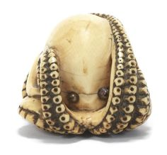 A fine ivory netsuke of an octopus 19th century