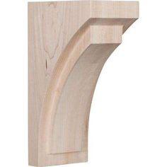 4 in. x 10 in. x 5-3/4 in. Alder Medium Felix Wood Corbel