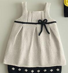 Modèle robe à noeud en coton layette - Modèles Layette - Phildar