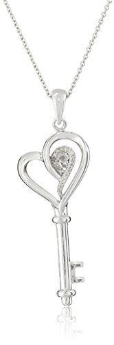 "Sterling Silver Diamond Key and Heart Pendant Necklace, 18"" Amazon Collection http://www.amazon.com/dp/B00BTBG8C8/ref=cm_sw_r_pi_dp_YSoywb1650QW5"
