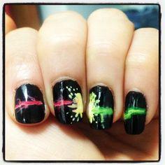 Awesome!!!!!!! Harry Potter/Voldemort Nails Avada Kevadra vs. Stupefy