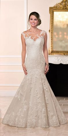 Stella York Tulle Over Organza Fit and Flare Wedding Dress style 6269 b
