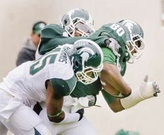 fbfaa4eb6 Spartan Football · OH yea! Try to tackle him! MSU green team tight end Dion  Sims (