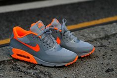 Nike Air Max Orange/Grey Hyperfuse. #sneakers