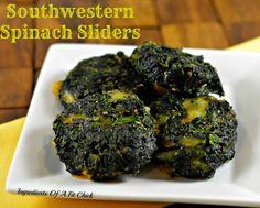 Southwestern Spinach Sliders