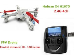 Hubsan X4 H107D 2.4G 4ch Quadrocopter 4-axle FPV Camera Drone RC Toys Helicopter Aerial Photography Video RTF F08562  #Drone #AerialPhotography #TheDroneHut #Quadcopters #Travel