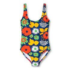 Marimekko for Target Women's One Piece Swimsuit Kukkatori Print... ($25) ❤ liked on Polyvore featuring swimwear, one-piece swimsuits, strappy swimsuit, bralette swimsuit, swimsuit swimwear, floral swimsuit and floral one piece swimsuit