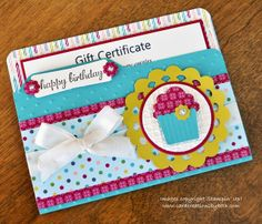 Card Creations by Beth: File Folder Card + Gift Certificate