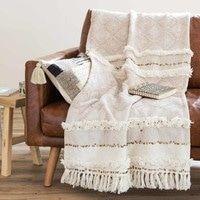 Überwurf aus Baumwolle, beige, 160x210 | Maisons du Monde