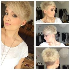 Short Spikey Hairstyles with Side Bangs: Cute Pixie Haircut