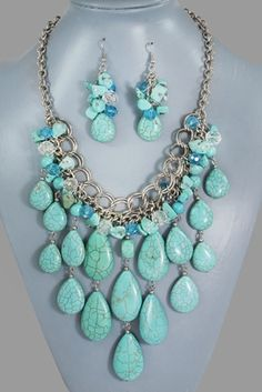 I love turquoise!.... But don't ever wear these at the same time!