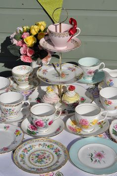 Tea Party Eclectic Tea Set by cake-stand-heaven, via Flickr