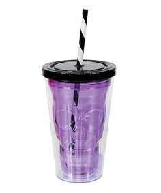 Look at this Purple Skull 15-Oz. Tumbler on #zulily today!