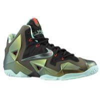 Nike Lebron XI - Men's - Gold / Olive Green