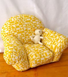 Overstuffed Arm Chair For Dolls