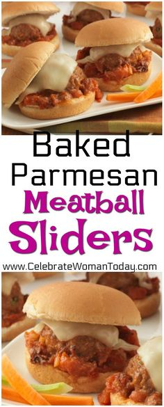 Baked Parmesan Meatball Sliders Recipe is easy and quick to make. Use it as an appetizer or a dinner menu item. #RecipeIdeas #Recipes #HeartThis