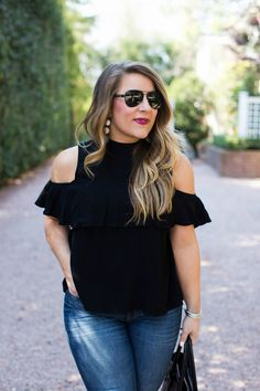 Cold Shoulder Tops and Why You CAN Wear Them - click through for my tips on how to style a cold shoulder top!