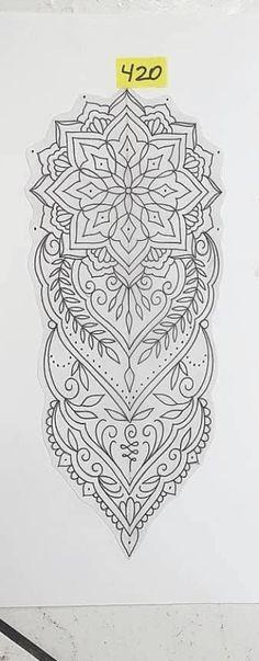 Mandala Elephant Tattoo, Mandala Wrist Tattoo, Geometric Sleeve Tattoo, Mandala Tattoo Design, Tattoo Sleeve Designs, Bild Tattoos, Leg Tattoos, Body Art Tattoos, Tattoo Drawings