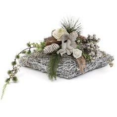 Grabgesteck-Grabschmuck-Allerheiligen-Gesteck-Engel-Totensonntag-Herz-Rose-02 Artificial Flower Arrangements, Artificial Flowers, Floral Arrangements, Grave Flowers, Funeral Flowers, Cemetery Decorations, Christmas Wreaths, Christmas Decorations, Sympathy Flowers