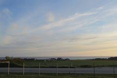 Utsikt mot sjøen frå Lerbrekk skulehus Clouds, Celestial, Sunset, Beach, Water, Outdoor, Water Water, Aqua, The Beach