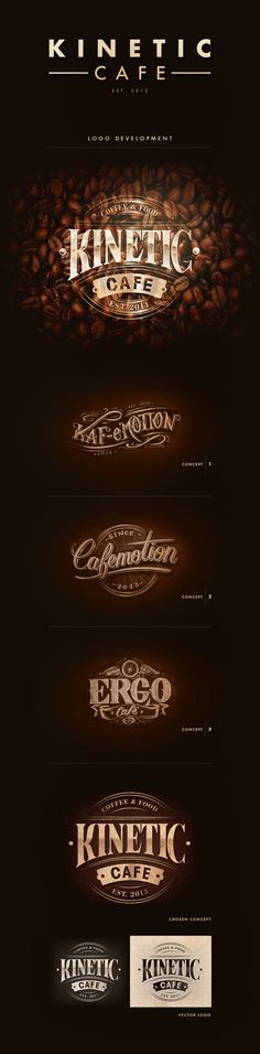 Kinetic Cafe by Aurelie Maron, via Behance