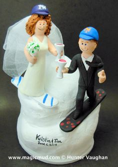SnowBoarder's Wedding Cake Topper
