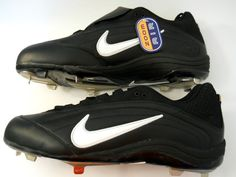 Nike Black Baseball Shoes Zoom Air New NWT Mens Metal Plastic Cleats Sz 16  #Nike #Baseball