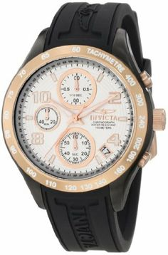 Invicta Women's 12099 Specialty Chronograph Silver Dial Black Polyurethane Watch Invicta. $127.99. Flame-fusion crystal; stainless steel case with black polyurethane strap. Silver dial with rose gold tone hands, hour markers and arabic numerals; luminous; 18k rose gold ion-plated stainless steel bezel, crown and pushers. Japanese quartz movement. Water-resistant to 100 M (330 feet). Chronograph functions with 30 second, 60 minute and 1/10th of a second subdials; d...