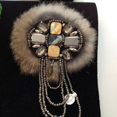 One of the kind hand made fur pin by a local designer exclusive @ Michelle Tan   Kane Jewerly Women's Jewelry via: Michelle Tan - Price: $49.00