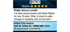 I've been doing business with Steam Master for over 35 years.  When it comes to water...