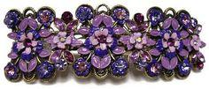 Large Purple Barrette flower style beads by CreationsByJanetUSA