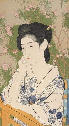 "inland-delta: "" Hashiguchi Goyo, Woman at a Hot Spring Hotel, 1920 """