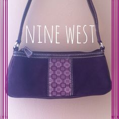 """LIKE NEW NINE WEST PURSE Like new little Nine West deep plum colored purse. silver hardware. Inside purse has one zip compartment and slots for credit cards. Purse zips closed. Purse measure 9.5"""" inches long and 4"""" inches high. Strap measures 18"""" inches. Perfect condition! Nine West Bags"""