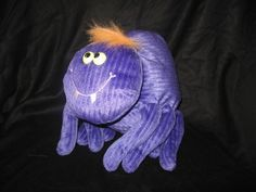 "Gund Toys For Target Plush Purple SPIDER Halloween Stuffed Animal Toy 10"" #Gund"
