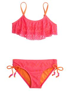 Crochet Bikini Swimsuit | Bikinis | Swimsuits | Shop Justice