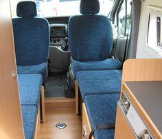 Van Conversions for the touring Campervan Bed, Campervan Interior, Truck Bed Camping, Van Camping, Motorhome, Van Conversion Campervan, Diy Van Conversions, Kombi Home, Van Home