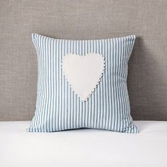 Buy Childrens Bedroom  Girls Bedroom  Heart Applique Cushion Cover from The White Company