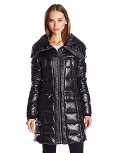 BCBGMAXAZRIA Womens Zip Front Down Coat Black Small -- You can get additional details at the image link.