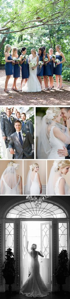 Navy blue wedding with green and white accents  @Brianna Detwiler I feel that this is all you!