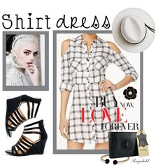 Shirtdress by ragnh-mjos on Polyvore featuring Material Girl, DbDk, Liz Claiborne, David Yurman, Calypso Private Label, contest, outfit and shirtdress