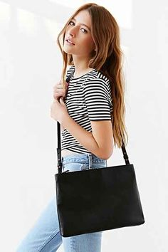 Silence + Noise Double Zip Shoulder Bag