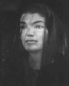 Jackie mourns her husband, JFK.