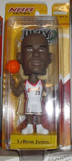 2012 NBA Finals MVP Lebron James 2004 UD Playmakers ROOKIE Bobblehead RETRO