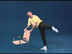 ▶ Superfoot Wallace training for high kicks with a chair - YouTube