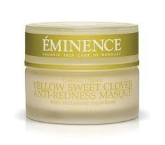 Eminence Organic Skincare. Yellow Sweet Clover Anti-Redness Masque_1.0 oz. by Eminence Organic Skin Care. $38.00. BioDynamic Anti-Redness Masque. FREE SKINCARE SAMPLES with purchase.. Reducies the appearance of fine lines. All skin types including sensitive and rosacea skins. Long-lasting hydration. Authorized Eminence Organic Retailer. Jojoba oil and calendula provide long-lasting hydration while sweet clover and stone crop soothe irritation, reduce redness and...