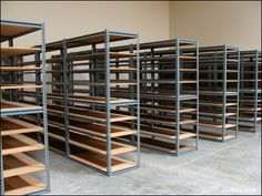 warehouse shelving 36 picking aisles for a industrial shelving system Industrial Shelving Units, Ikea Industrial, Industrial Bedroom, Industrial House, Industrial Interiors, Industrial Furniture, Industrial Restaurant, Industrial Design, Industrial Closet