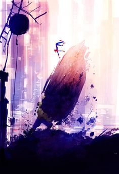 New York by night Spider-Man by Pascal Campion
